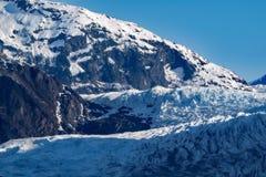 阿拉斯加冰川mendenhall 图库摄影