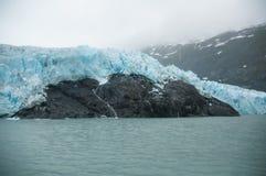 阿拉斯加冰川portage 库存图片