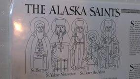 阿拉斯加圣迈克尔圣徒大教堂天使在Sitka 股票视频
