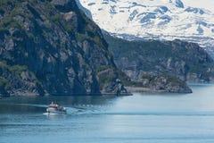 阿拉斯加小船捕鱼 库存照片