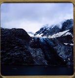 阿拉斯加巡航 35张mm幻灯片1970年` s葡萄酒旅行和家庭远足 免版税库存照片