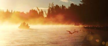 阿拉斯加捕鱼 免版税库存图片
