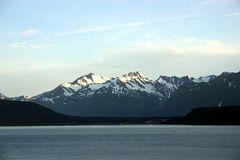 阿拉斯加横向 免版税库存图片