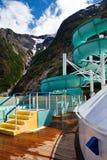 阿拉斯加水滑道 库存图片