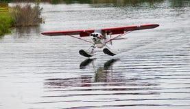 阿拉斯加浮动飞机 图库摄影
