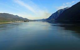阿拉斯加海岸线在朱诺 库存图片