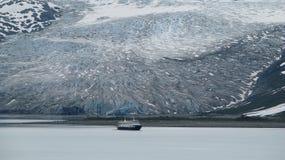 阿拉斯加海湾冰川 免版税图库摄影