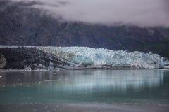 阿拉斯加海湾冰川 免版税库存照片