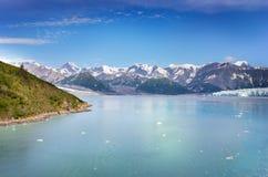 阿拉斯加海湾冰川 图库摄影