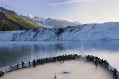 阿拉斯加海湾巡航的冰川 免版税图库摄影