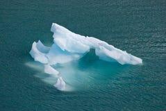 阿拉斯加海湾浮动的冰川冰山 免版税库存图片