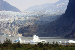 阿拉斯加的一个庄严看法 免版税库存照片