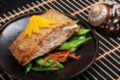 阿拉斯加的三文鱼 免版税库存照片