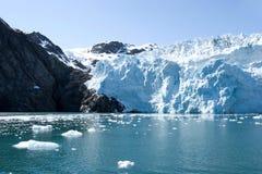 阿拉斯加的冰川 免版税库存照片