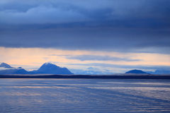 阿拉斯加的山脉 图库摄影