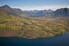 阿拉斯加的山谷 免版税库存照片