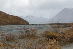 阿拉斯加的山风景 库存照片