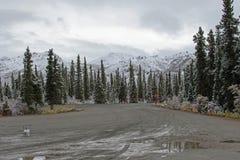 阿拉斯加的山风景 免版税库存图片