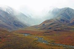 阿拉斯加的山 库存照片