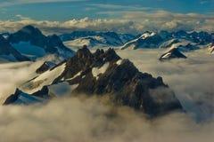 阿拉斯加的山 免版税库存照片