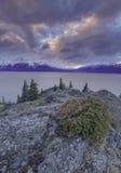 阿拉斯加的日出  免版税图库摄影