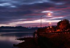 阿拉斯加的晚上 库存图片
