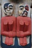 阿拉斯加的木艺术 库存图片