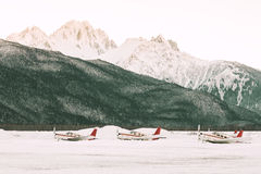 阿拉斯加的机场 免版税库存照片
