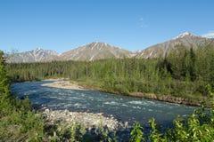 阿拉斯加的河 免版税图库摄影