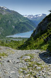 阿拉斯加的海湾在明亮的晴天 免版税库存图片