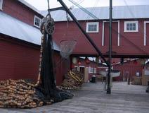 阿拉斯加的渔村 图库摄影