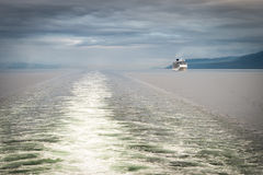 阿拉斯加的游轮 库存图片