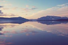 阿拉斯加的湖 免版税图库摄影