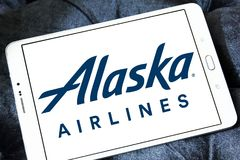阿拉斯加航空公司商标 免版税库存照片
