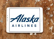 阿拉斯加航空公司商标 库存图片