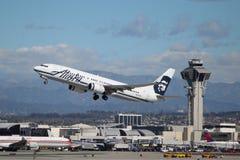 阿拉斯加航空公司波音737-890 库存图片