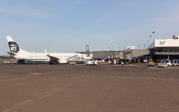 阿拉斯加航空公司飞机 免版税图库摄影