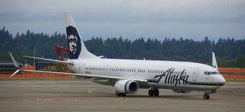 阿拉斯加航空公司 库存图片