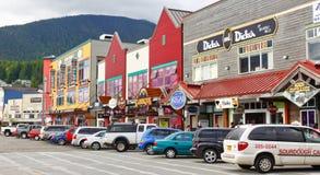 阿拉斯加街市Ketchikan购物 免版税库存照片