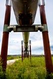 阿拉斯加输油管 免版税图库摄影