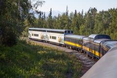 阿拉斯加铁路 图库摄影