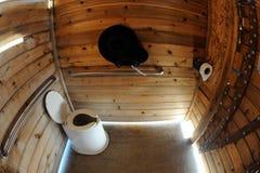 阿拉斯加露营地下落洗手间我们 库存图片