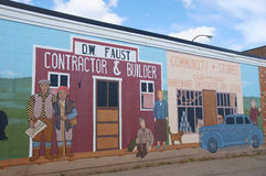 阿拉斯加高速公路墙壁艺术 免版税库存照片