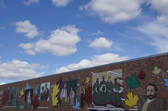 阿拉斯加高速公路墙壁艺术 免版税库存图片