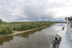 阿拉斯加,最后边境 免版税库存照片