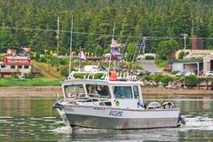 阿拉斯加-渔船Auke海湾朱诺2 库存照片