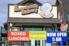阿拉斯加-荷马木板走道面包店 免版税库存图片