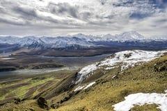 阿拉斯加- Mt 从Denali的麦金莱 库存图片