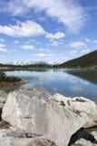 阿拉斯加` s Mountain湖 库存照片