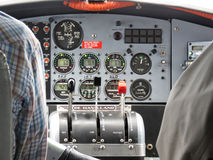 阿拉斯加De Havilland Otter飞行仪器 免版税库存图片